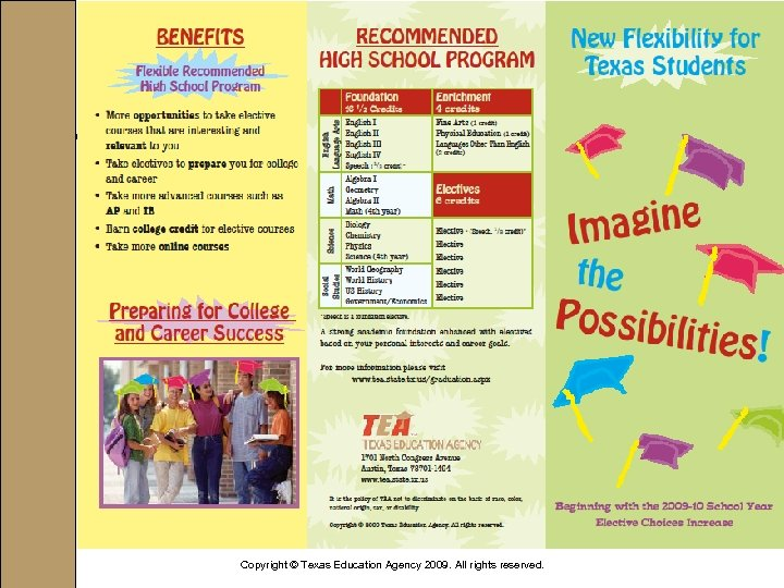 Copyright © Texas Education Agency 2009. All rights reserved.