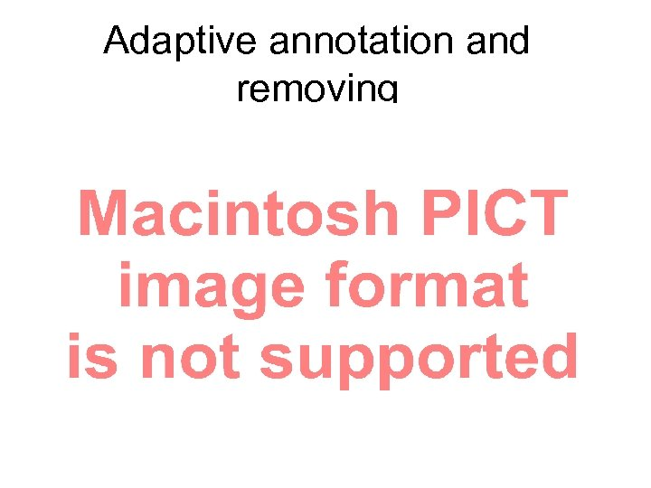 Adaptive annotation and removing