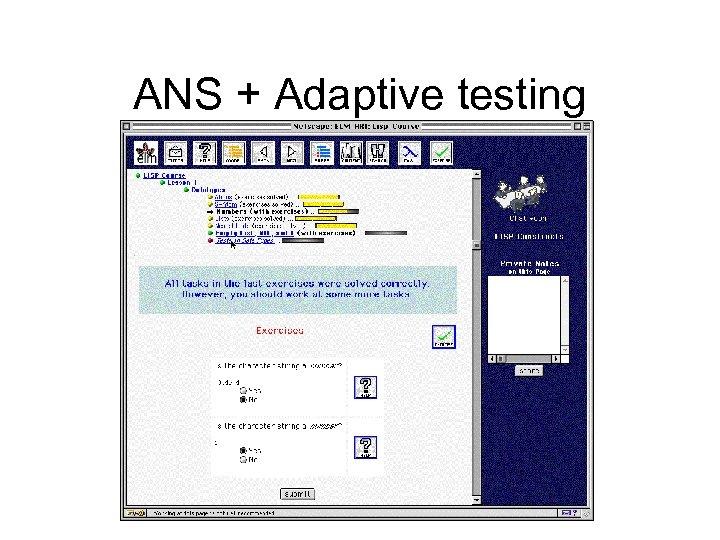 ANS + Adaptive testing
