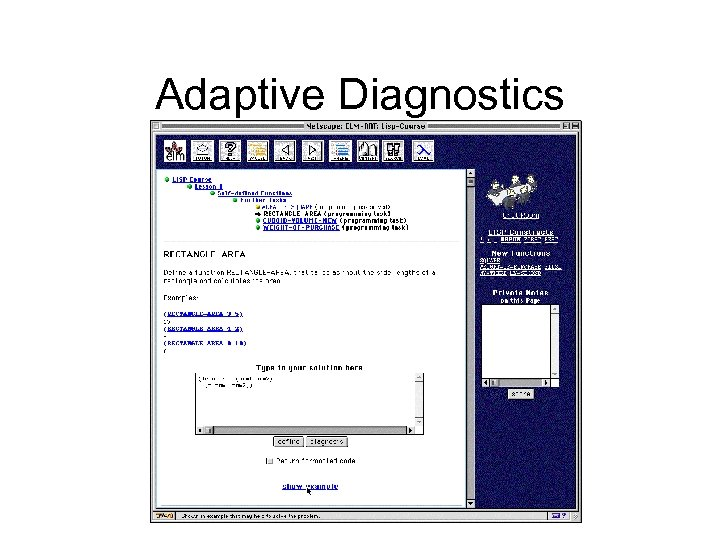 Adaptive Diagnostics