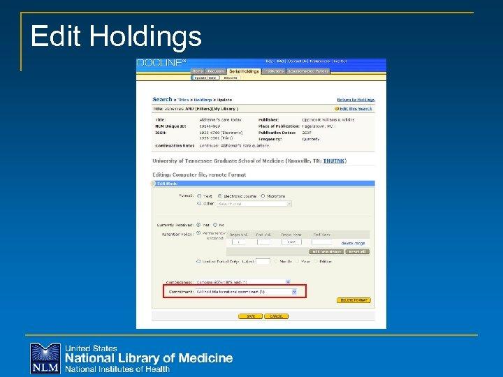 Edit Holdings