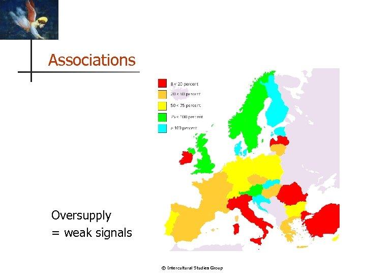 Associations Oversupply = weak signals © Intercultural Studies Group