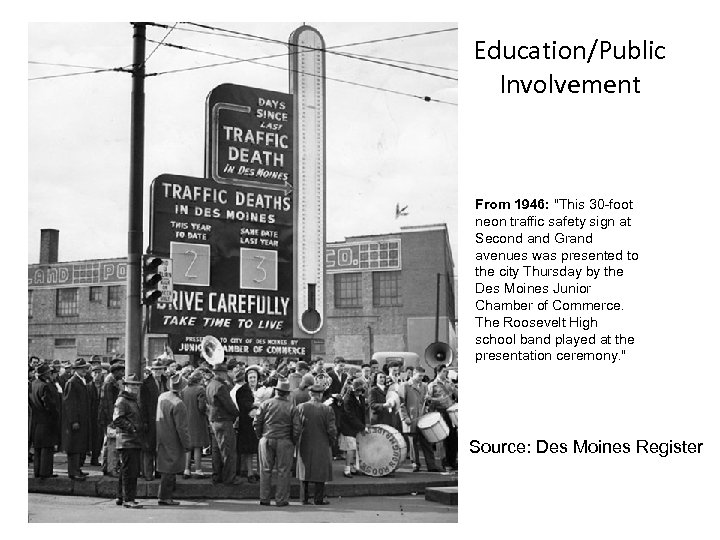 Education/Public Involvement From 1946: