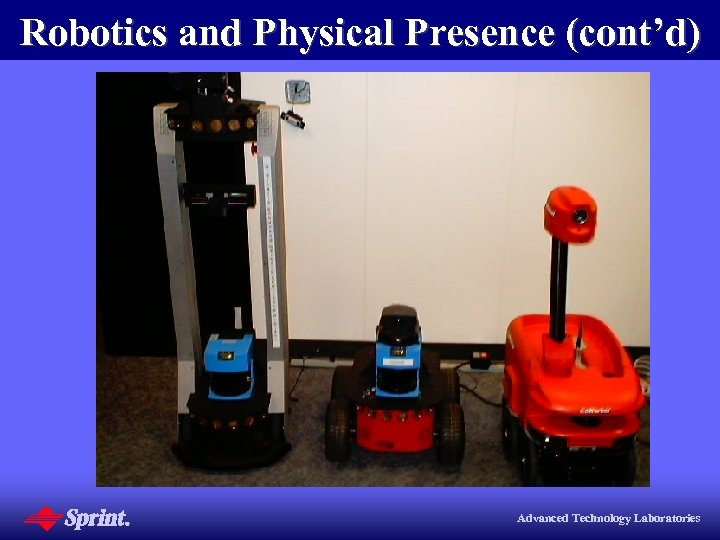 Robotics and Physical Presence (cont'd) Advanced Technology Laboratories