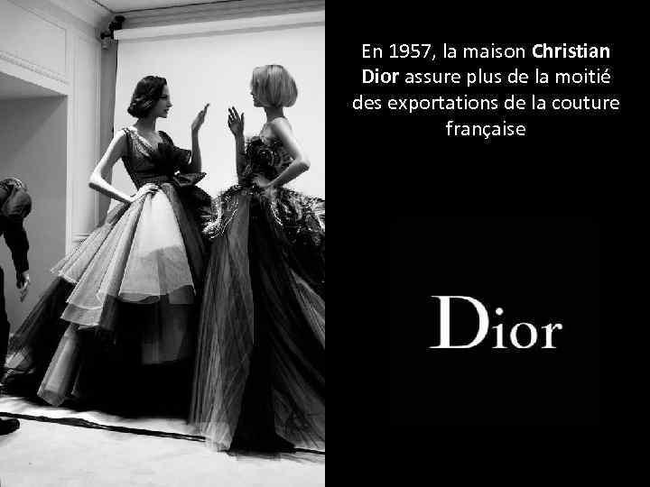 En 1957, la maison Christian Dior assure plus de la moitié des exportations de