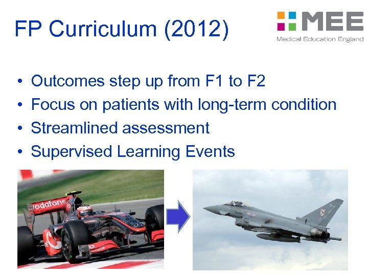 FP Curriculum (2012) • • Outcomes step up from F 1 to F 2