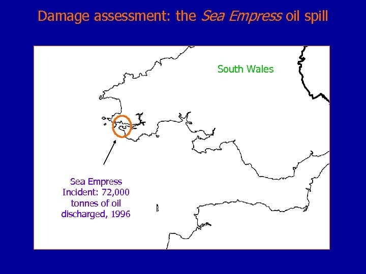 Damage assessment: the Sea Empress oil spill South Wales Sea Empress Incident: 72, 000