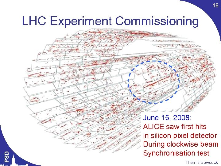16 PSD LHC Experiment Commissioning June 15, 2008: ALICE saw first hits in silicon