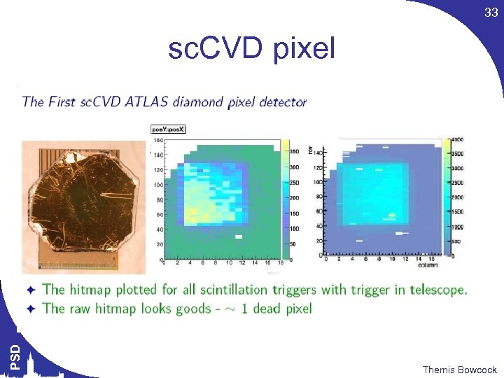 33 PSD sc. CVD pixel Themis Bowcock