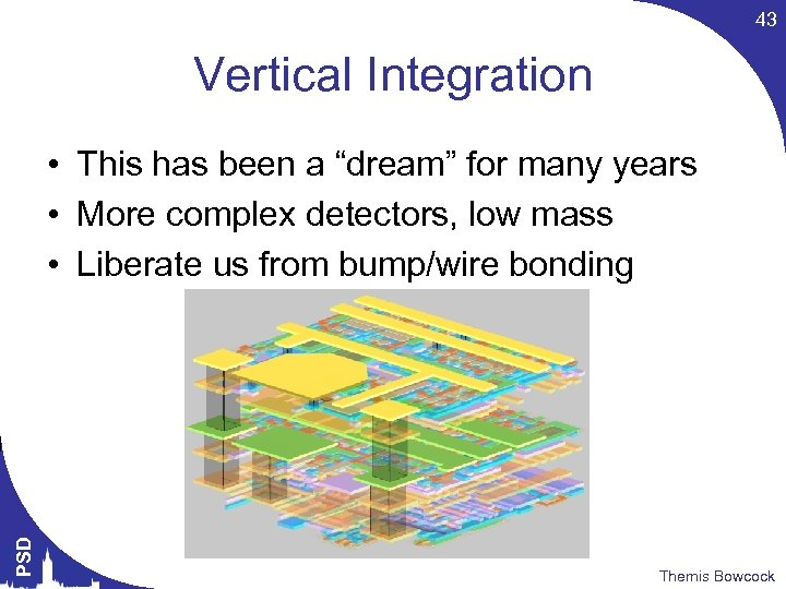 """43 Vertical Integration PSD • This has been a """"dream"""" for many years •"""
