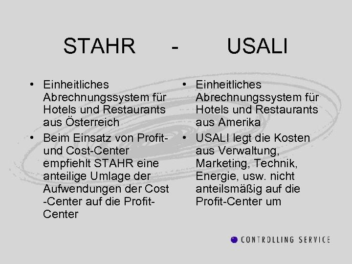 STAHR • Einheitliches Abrechnungssystem für Hotels und Restaurants aus Österreich • Beim Einsatz von