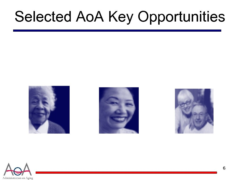 Selected Ao. A Key Opportunities 6