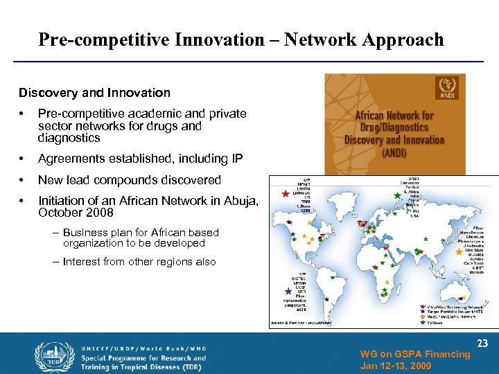 Pre-competitive Innovation – Network Approach Discovery and Innovation • Pre-competitive academic and private sector