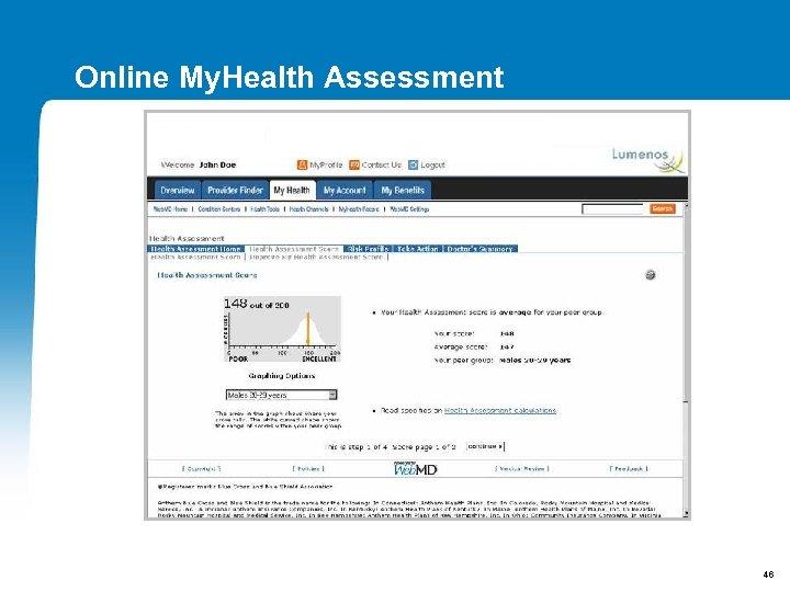 Online My. Health Assessment 46