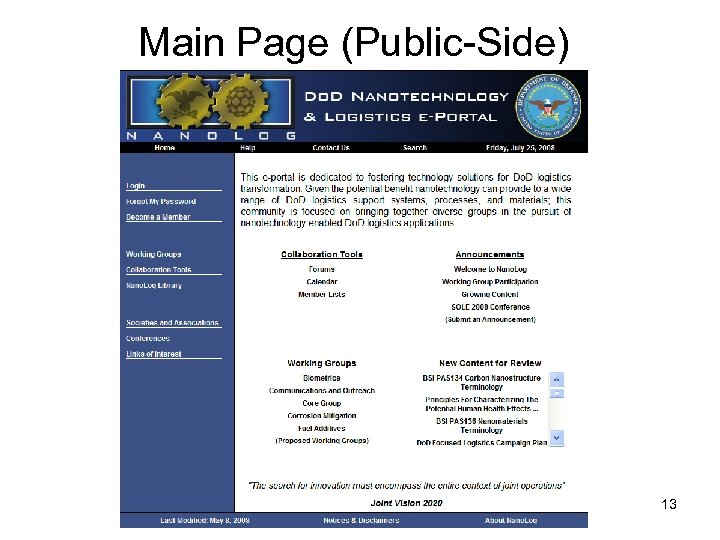 Main Page (Public-Side) 13