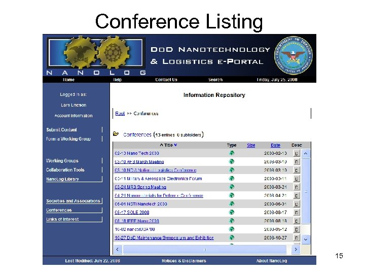 Conference Listing 15