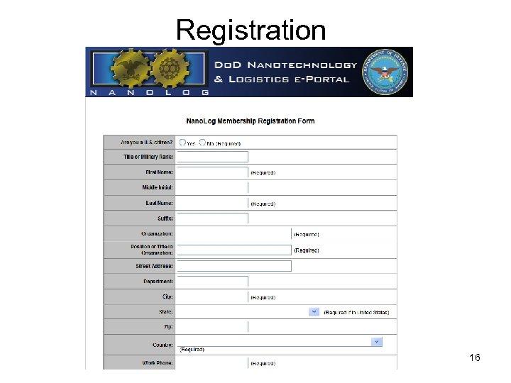 Registration 16