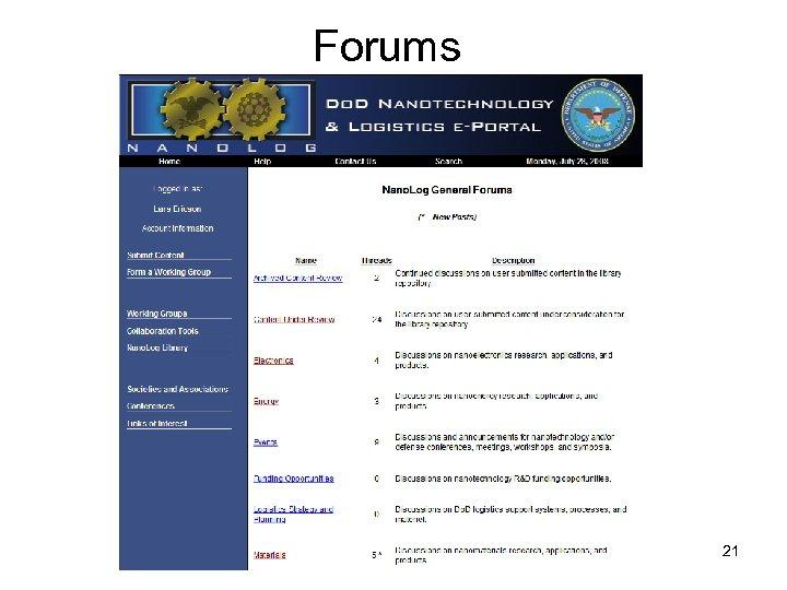 Forums 21