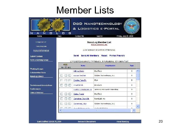 Member Lists 23