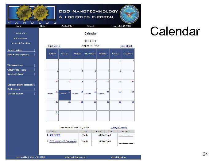 Calendar 24