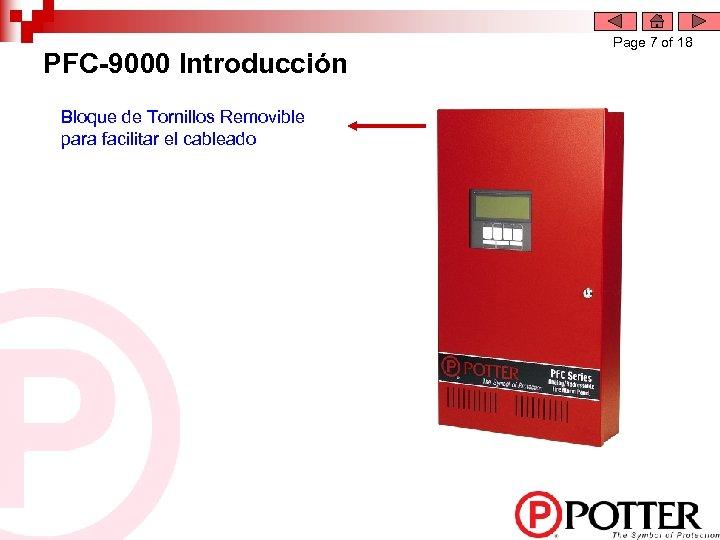 PFC-9000 Introducción Bloque de Tornillos Removible para facilitar el cableado Page 7 of 18