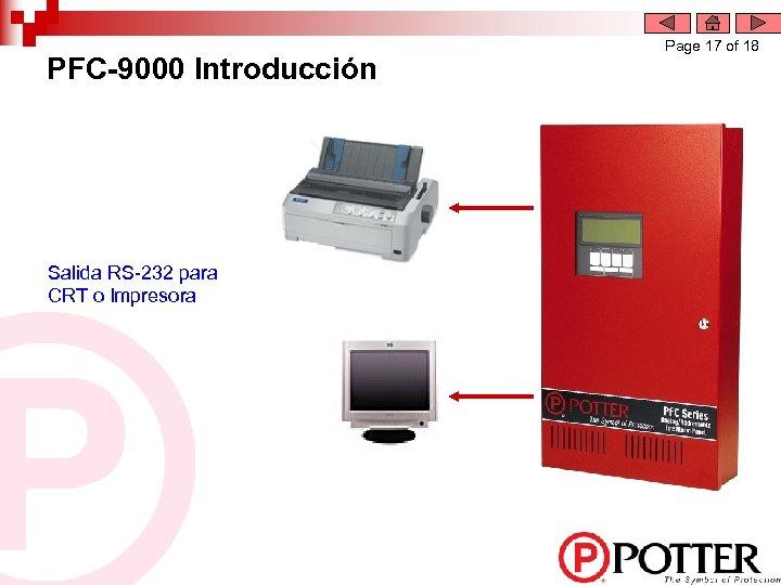 PFC-9000 Introducción Salida RS-232 para CRT o Impresora Page 17 of 18