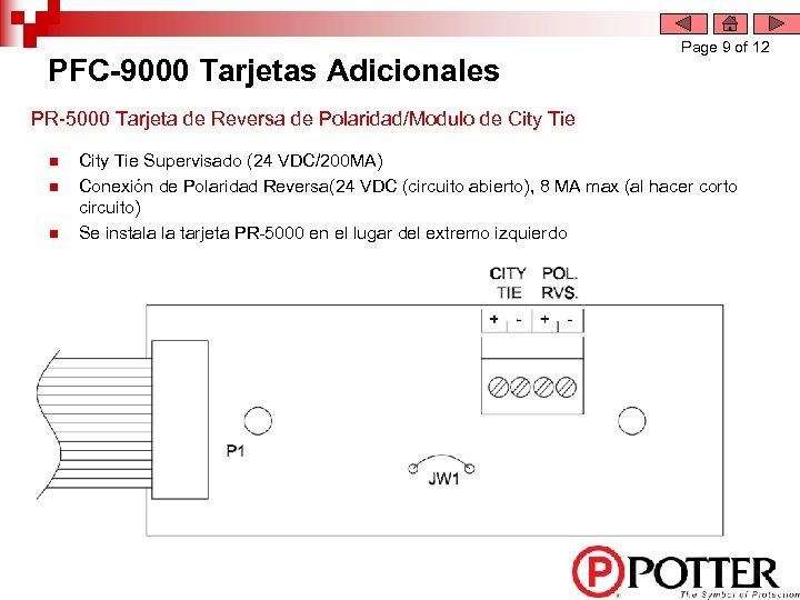 PFC-9000 Tarjetas Adicionales Page 9 of 12 PR-5000 Tarjeta de Reversa de Polaridad/Modulo de