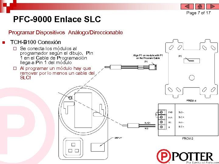 Page 7 of 17 PFC-9000 Enlace SLC Programar Dispositivos Análogo/Direccionable n TCH-B 100 Conexión