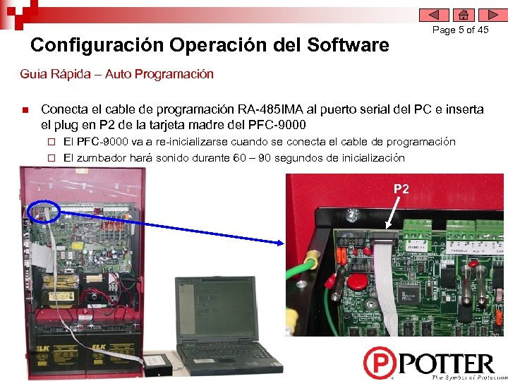 Page 5 of 45 Configuración Operación del Software Guía Rápida – Auto Programación n