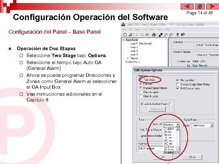 Configuración Operación del Software Configuración del Panel – Base Panel n Operación de Dos