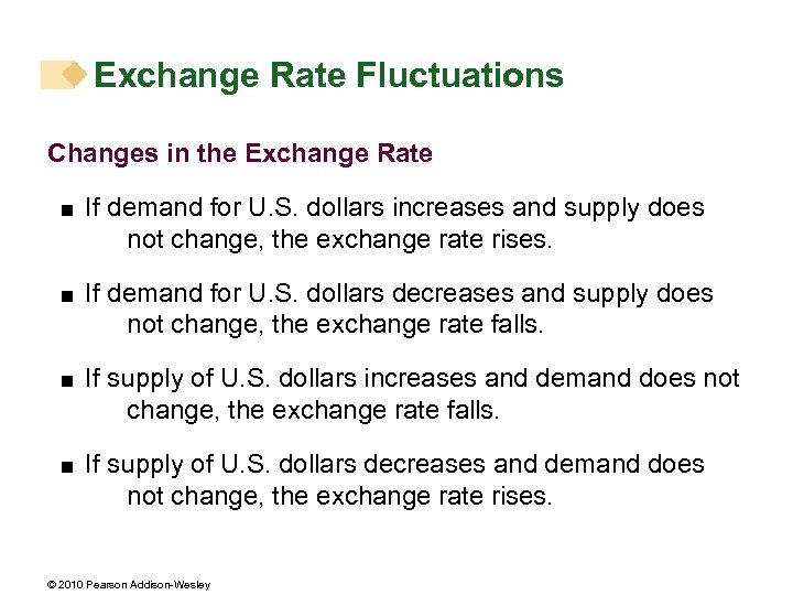 Exchange Rate Fluctuations Changes in the Exchange Rate < If demand for U. S.