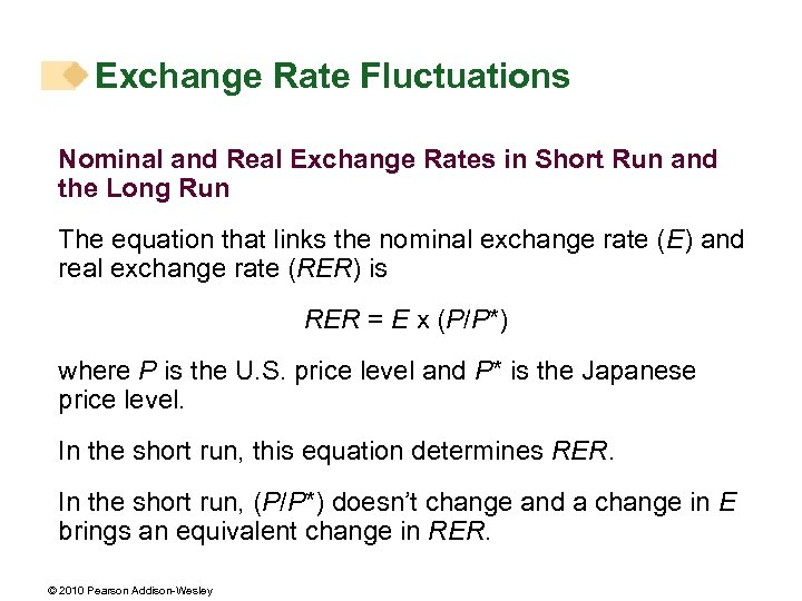 Exchange Rate Fluctuations Nominal and Real Exchange Rates in Short Run and the Long