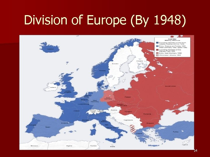 Division of Europe (By 1948) 14