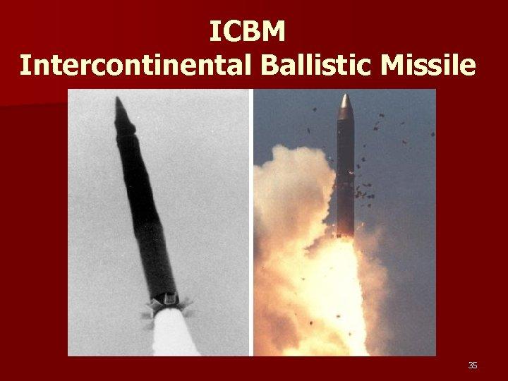 ICBM Intercontinental Ballistic Missile 35