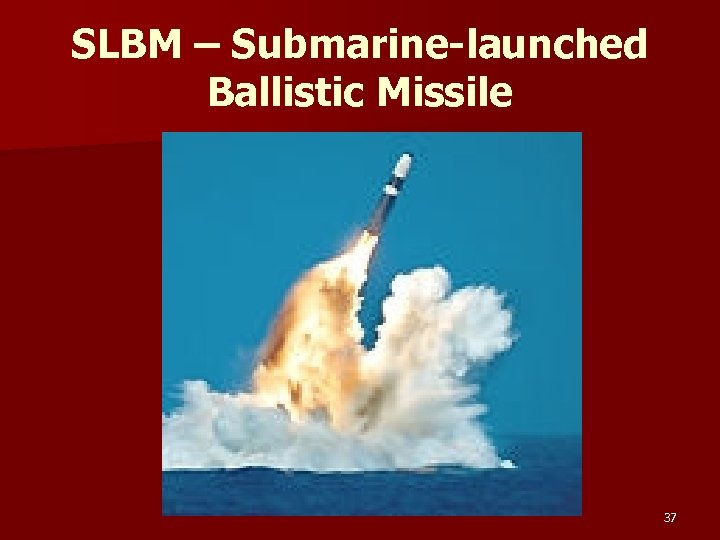 SLBM – Submarine-launched Ballistic Missile 37