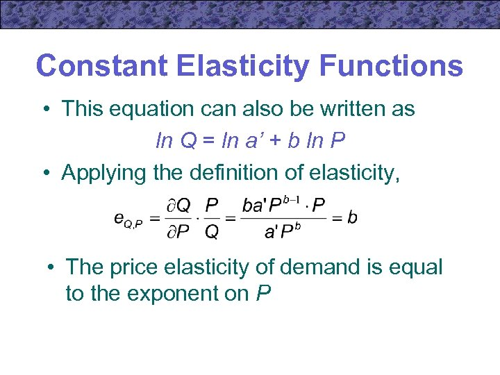 Chapter 7 Market Demand Elasticity Microeconomic Theory Basic