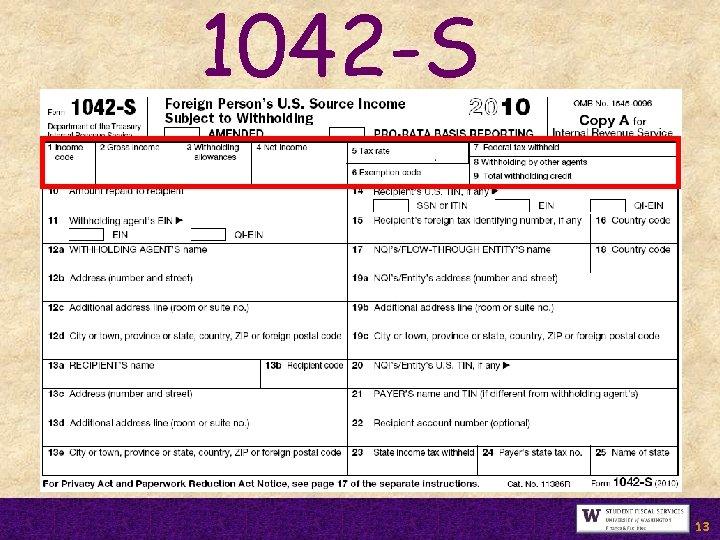 1042 -S 13