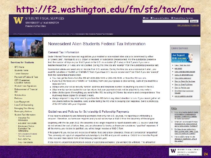 http: //f 2. washington. edu/fm/sfs/tax/nra 24