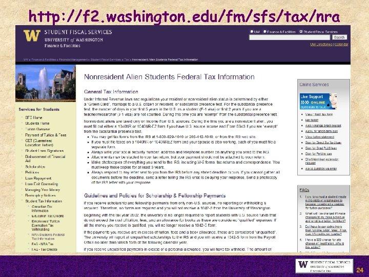 http: //f 2. washington. edu/fm/sfs/tax/nra 24