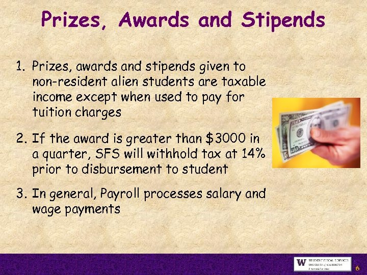 Prizes, Awards and Stipends 1. Prizes, awards and stipends given to non-resident alien students