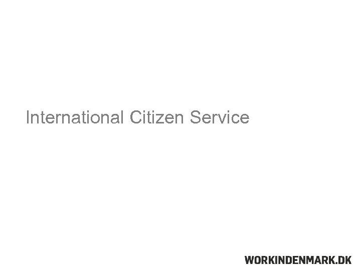 International Citizen Service