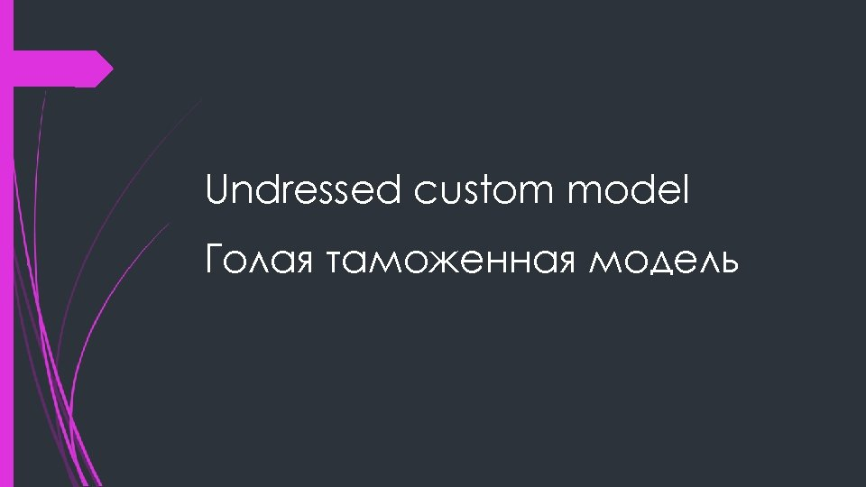 Undressed custom model Голая таможенная модель
