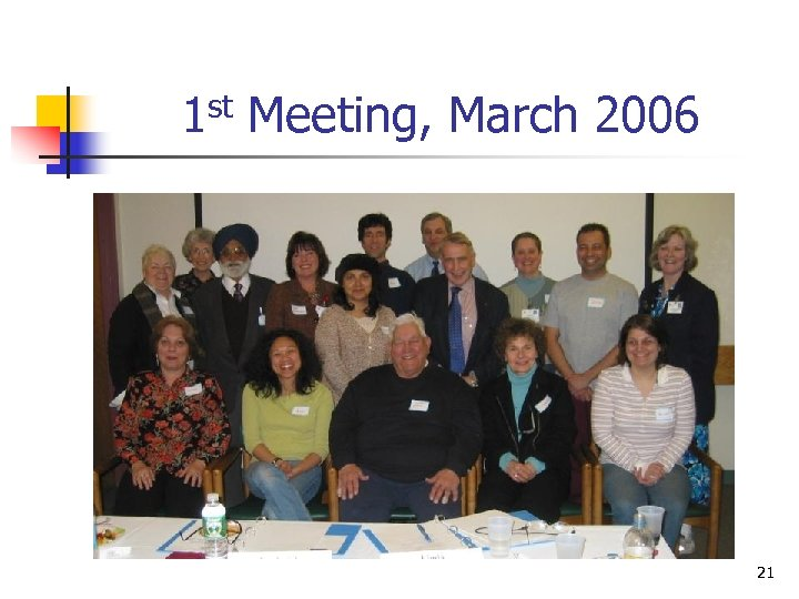 1 st Meeting, March 2006 21