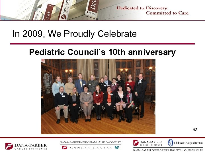 In 2009, We Proudly Celebrate Pediatric Council's 10 th anniversary 63