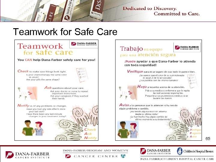 Teamwork for Safe Care 65