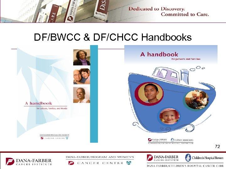 DF/BWCC & DF/CHCC Handbooks 72