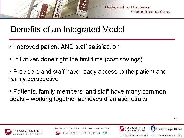 Benefits of an Integrated Model • Improved patient AND staff satisfaction • Initiatives done