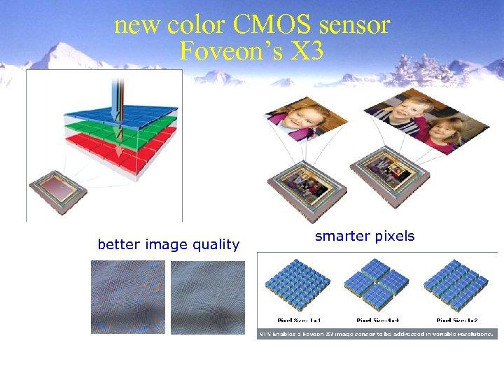new color CMOS sensor Foveon's X 3 better image quality smarter pixels