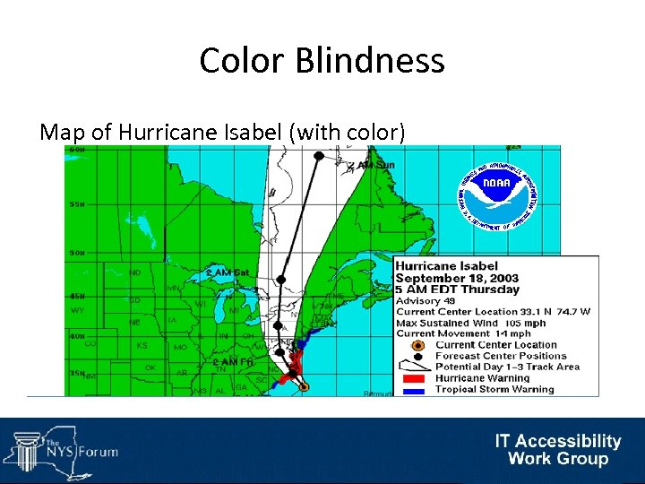 Color Blindness Map of Hurricane Isabel (with color)