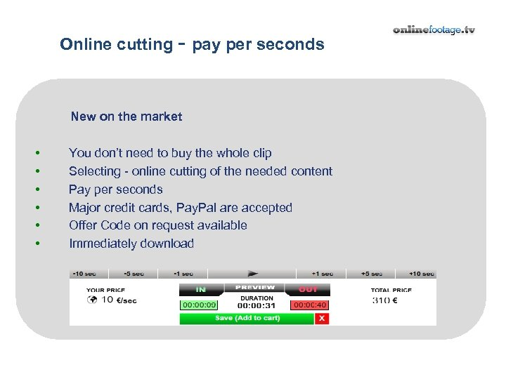 Online cutting - pay per seconds New on the market • • •